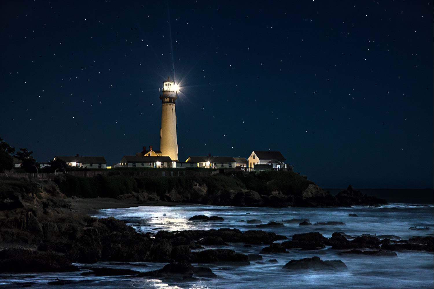 Lighthouse at nigh